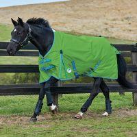 WeatherBeeta ComFiTec Classic 0g Lite Weight Standard Neck Turnout Rug Bright Green/Blue/Cerise