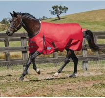 WeatherBeeta ComFiTec Classic 50g Lite Weight Standard Neck Turnout Rug Red/Black