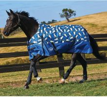 WeatherBeeta ComFiTec Essential 220g Medium Weight Standard Neck Turnout Rug Penguin