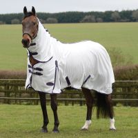 WeatherBeeta ComFiTec Essential Mesh II Combo Neck Fly Rug White/Purple/Black