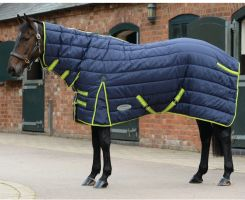 WeatherBeeta ComFiTec PP Channel Quilt 350g Heavyweight Combo Stable Rug Navy/Lime