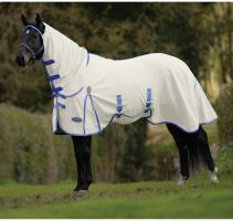 WeatherBeeta ComFiTec Shield Combo Neck Fly Rug White/Blue
