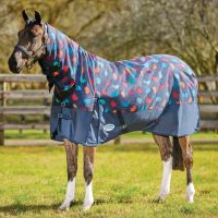 WeatherBeeta ComFiTech Essential 220g Medium Weight Combo Neck Turnout Rug Hedgehog Print