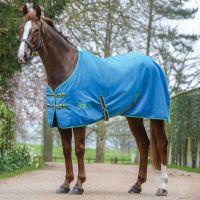 WeatherBeeta Cotton Sheet Standard Neck Rug Blue/Bright Green/Cerise