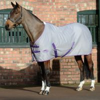 WeatherBeeta Cotton Sheet Standard Neck Rug Grey/Purple/Blue
