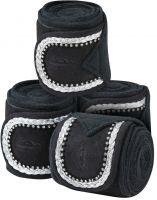 WeatherBeeta Fleece Bling Bandages Black