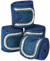 WeatherBeeta Fleece Bling Bandages Navy