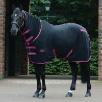 WeatherBeeta Fleece Cooler Combo Neck Rug Black/Boysenberry