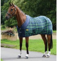 WeatherBeeta Fleece Cooler Standard Neck Rug Navy/Lime Plaid