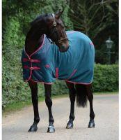 WeatherBeeta Fleece Cooler Standard Neck Rug Teal/Cerise/Yellow