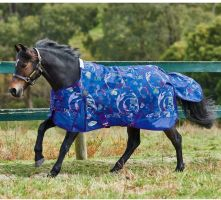 WeatherBeeta Original 1200D Pony 0g Lite Weight Standard Neck Turnout Rug Blue Graffiti