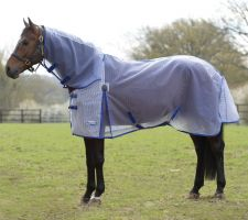 WeatherBeeta Ripshield Plus Combo Fly Rug White/Blue