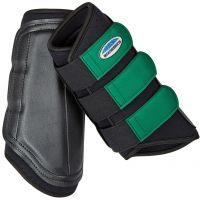 WeatherBeeta Single Lock Brushing Boots Black/Emerald