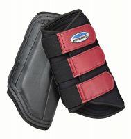 WeatherBeeta Single Lock Brushing Boots Black/Maroon