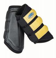 WeatherBeeta Single Lock Brushing Boots Black/Mustard