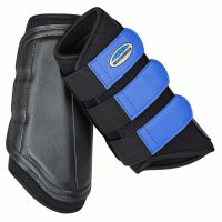 WeatherBeeta Single Lock Brushing Boots Black/Royal Blue