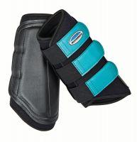 WeatherBeeta Single Lock Brushing Boots Black/Turquoise