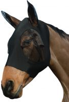 WeatherBeeta Stretch Bug Eye Saver with Ears Fly Mask Black