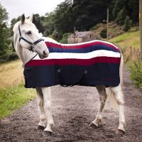 Whitaker Holywell V2 Fleece Rug Stripe Navy/Burgundy/Beige