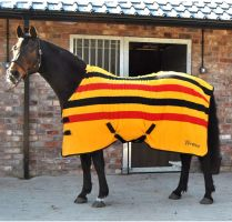 Whitaker Holywell V2 Fleece Rug Stripe Yellow/Red/Black