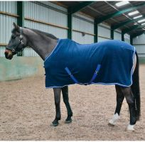 Whitaker Ripley Soft Fleece Rug Navy Blue