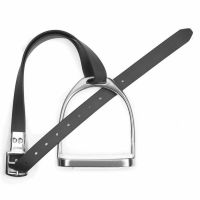 Wintec Slimline Stirrup Leathers Black
